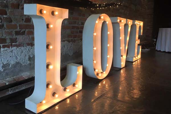 lightup letters - Shabby Chic Love