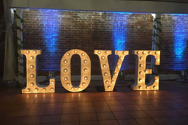Shabby Chic LOVE - light up marquee letters