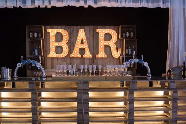 bar - marquee light up word for hire