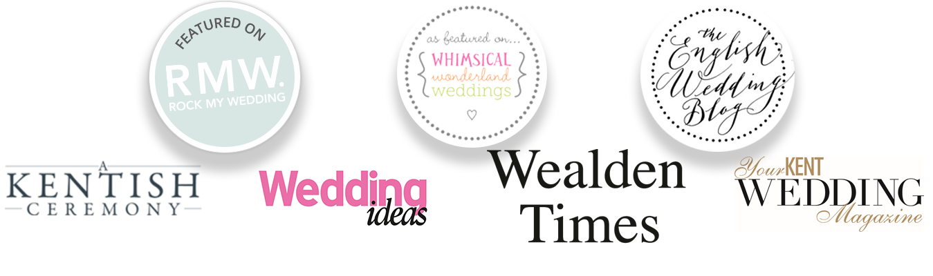 kent wedding and wedding blog logos