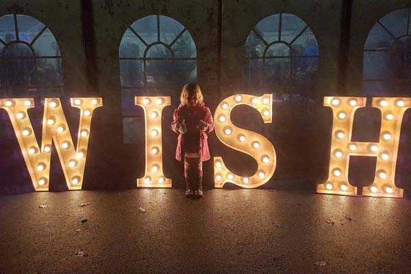 light up letters - words for hire