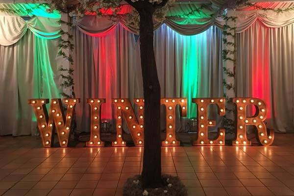 marquee light up words - for hire