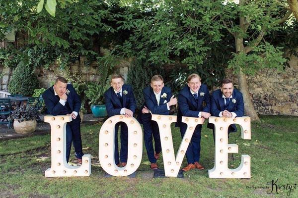 white light up letters - love
