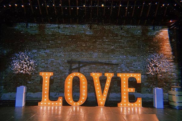 hire 5ft light up letters